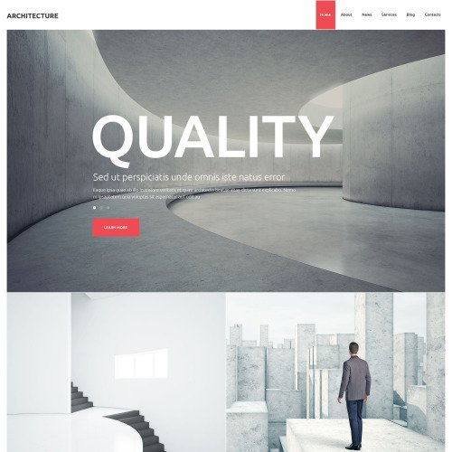 Architecture  - WordPress Template based on Bootstrap