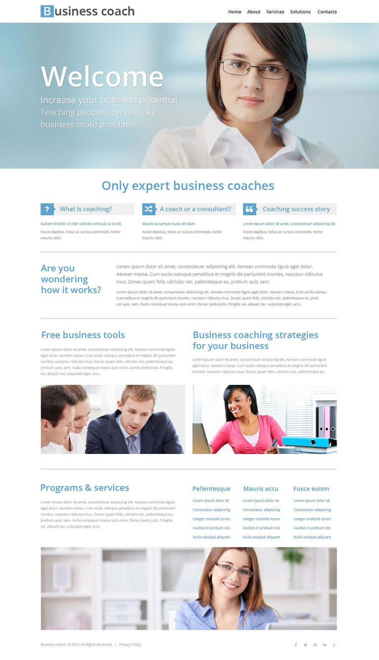 Business School Website Template New Screenshots BIG
