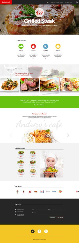 Spanish Restaurant Responsive WordPress Thema