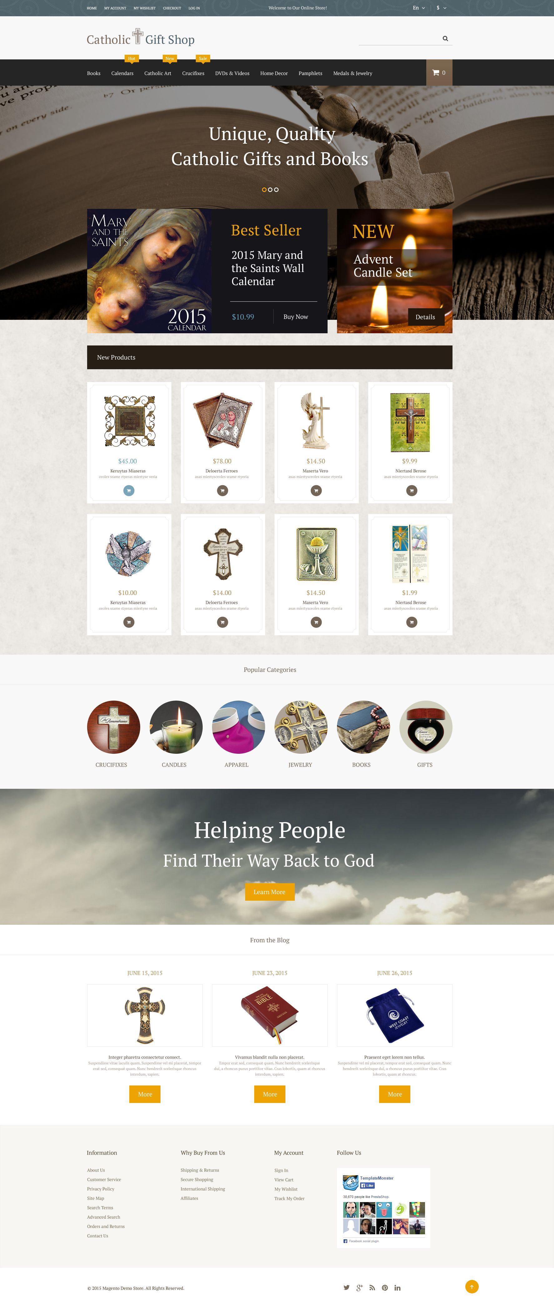 Catholic Gifts Magento Theme