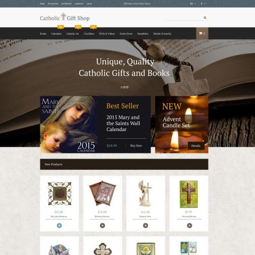 Catholic Gift Shop - Magento Template based on Bootstrap