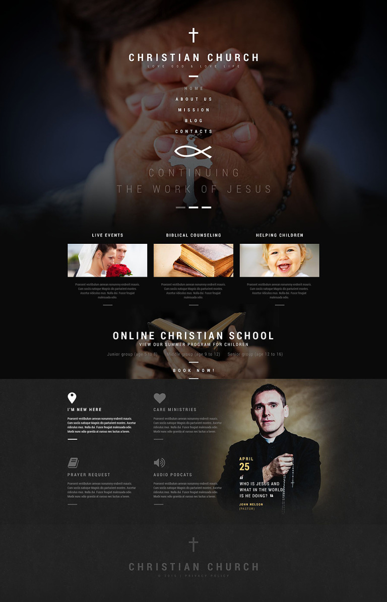 Christian Church WordPress Theme New Screenshots BIG