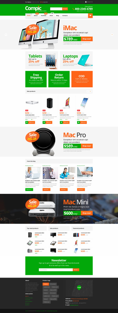 Computer Hardware Components WooCommerce Theme #53328