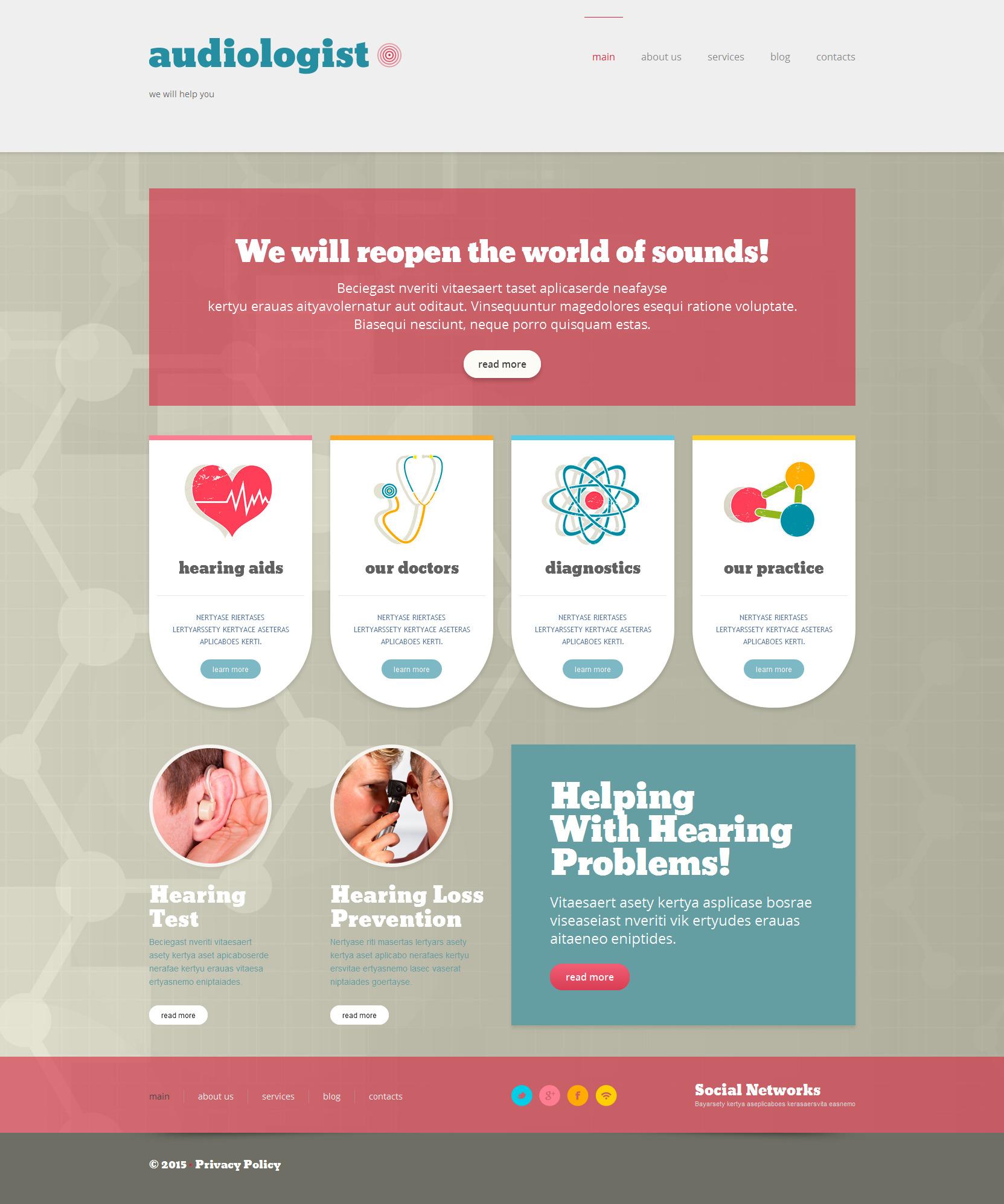 Doctor Responsive WordPress Theme - screenshot