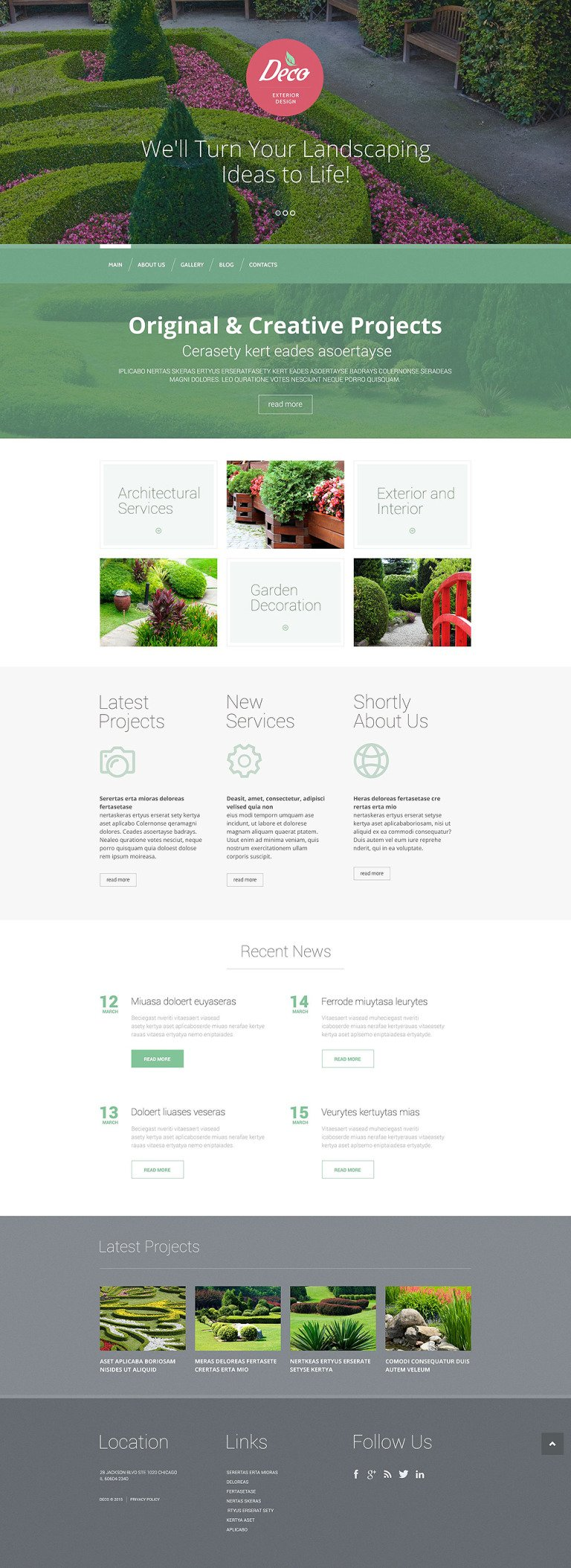Exterior Design Mastery WordPress Theme New Screenshots BIG
