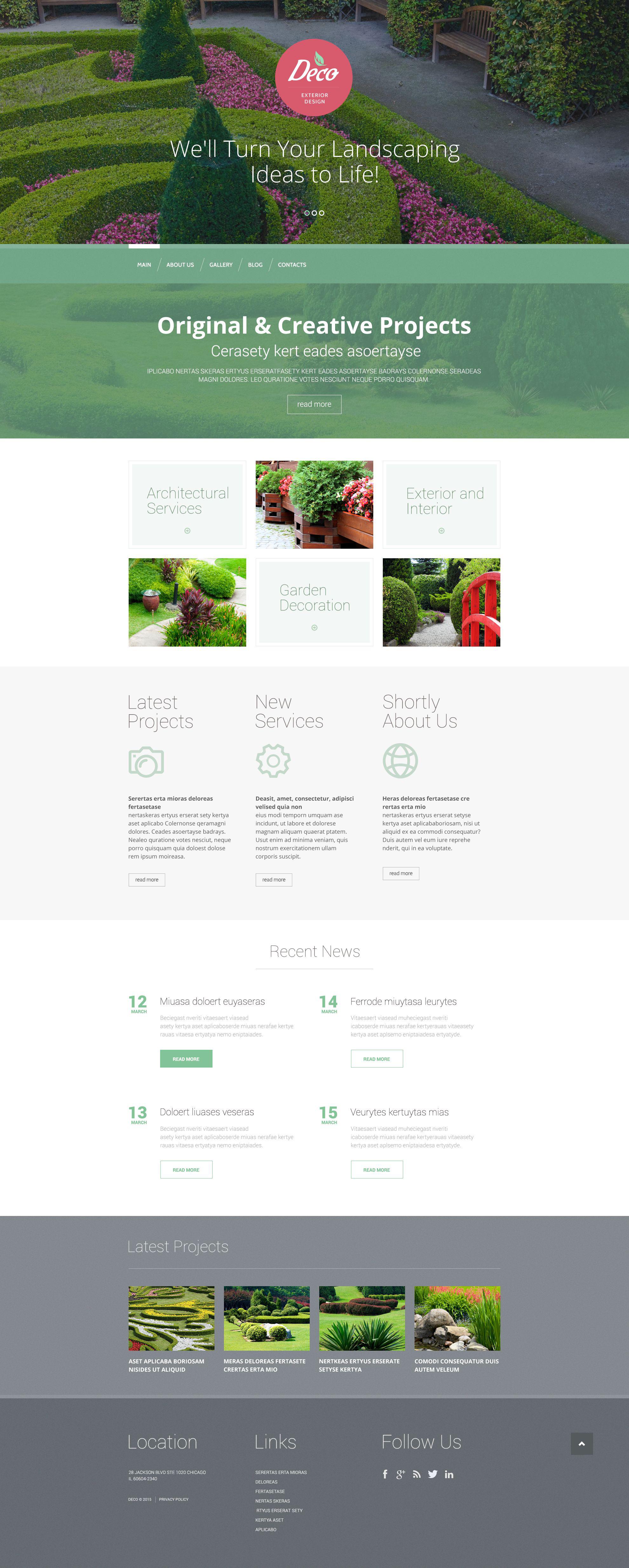 Exterior Design Mastery WordPress Theme - screenshot