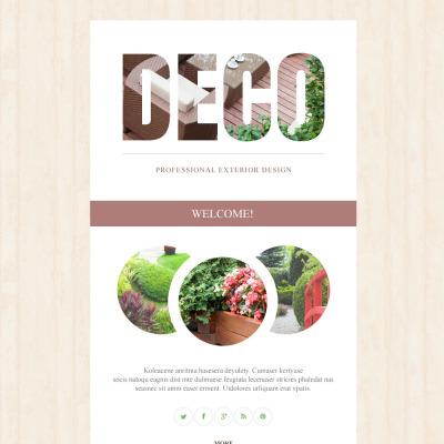 Exterior design newsletter templates templatemonster for Exterior design templates