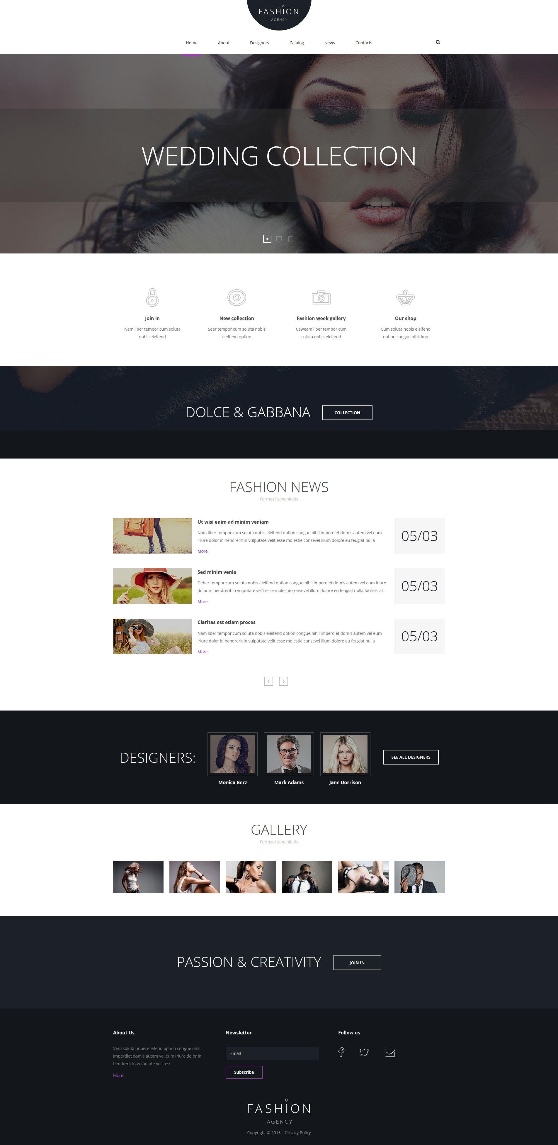 Fashion Joomla Template - screenshot