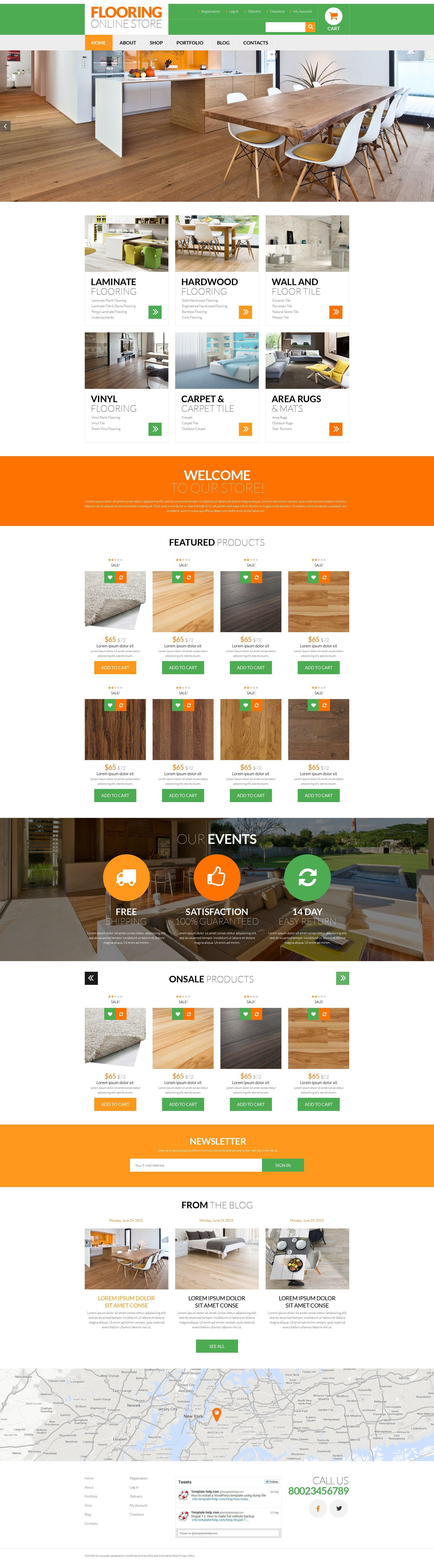 Flooring Services WooCommerce Theme - screenshot