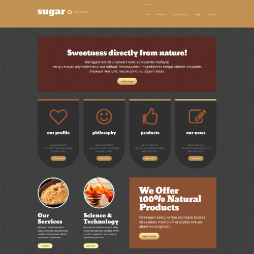 Sugar - WordPress Template based on Bootstrap
