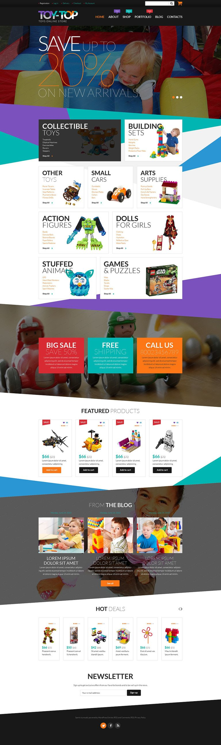 Free Toys Store WooCommerce Theme WooCommerce Theme New Screenshots BIG