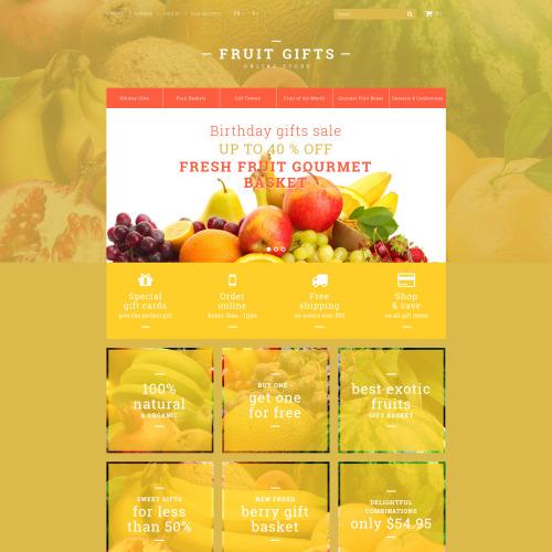 Fruit Gifts - PrestaShop Template based on Bootstrap