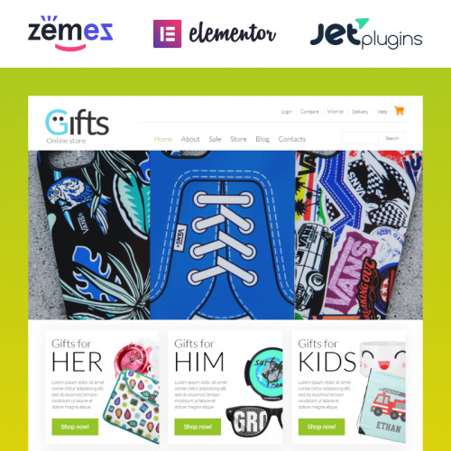 Gifts Shop - WooCommerce Template based on Bootstrap