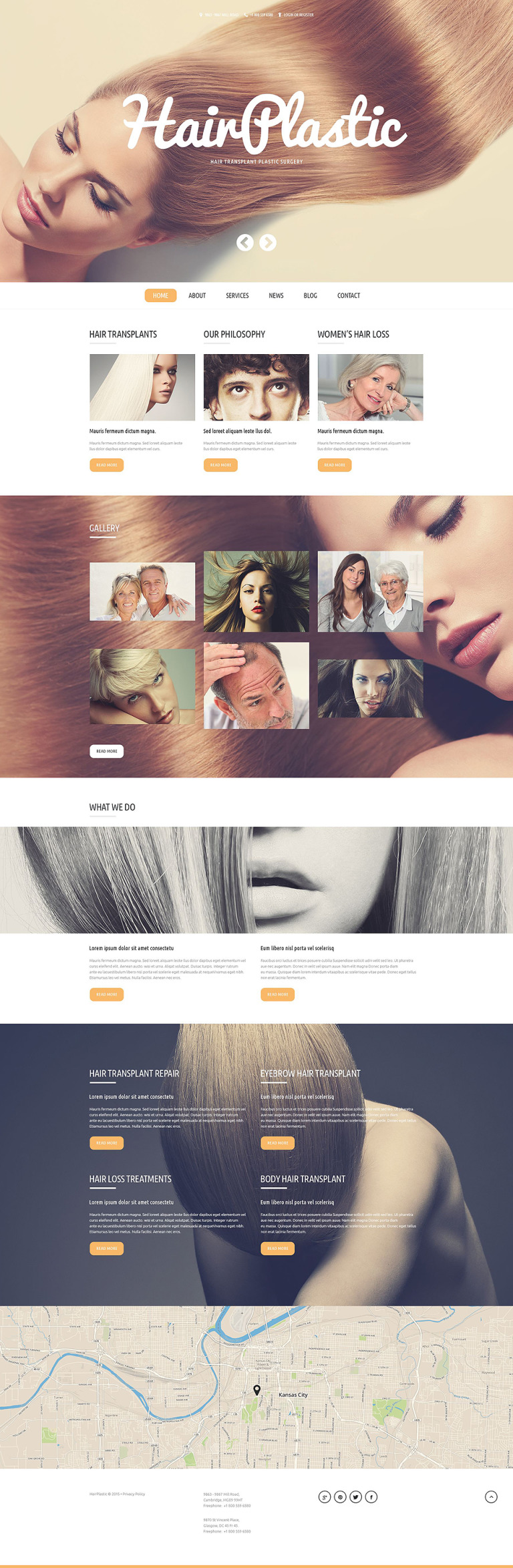 Hair Transplantation WordPress Theme New Screenshots BIG