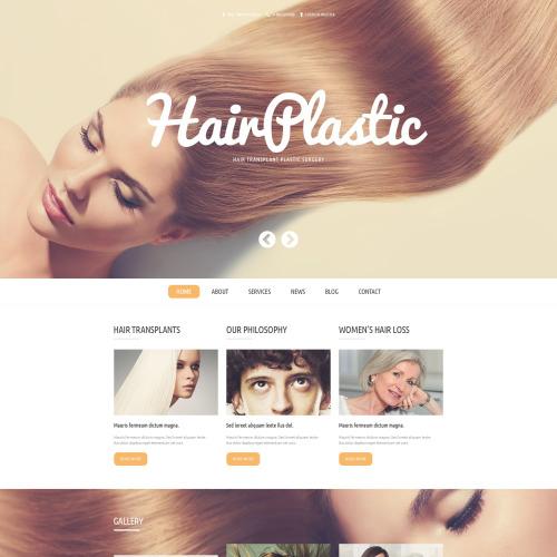 Hair Plastic - WordPress Template based on Bootstrap