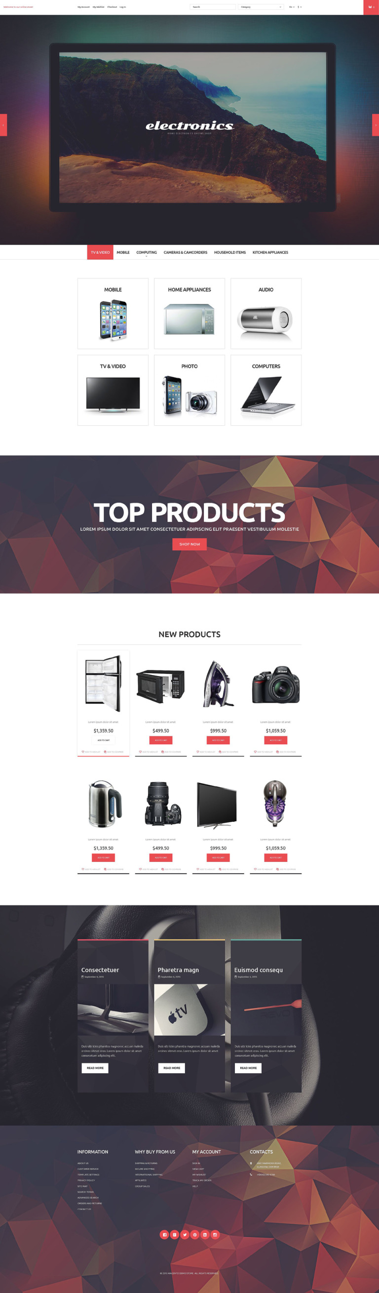 Home Electronics Store Magento Theme New Screenshots BIG