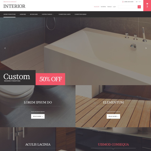Interior - Magento Template based on Bootstrap