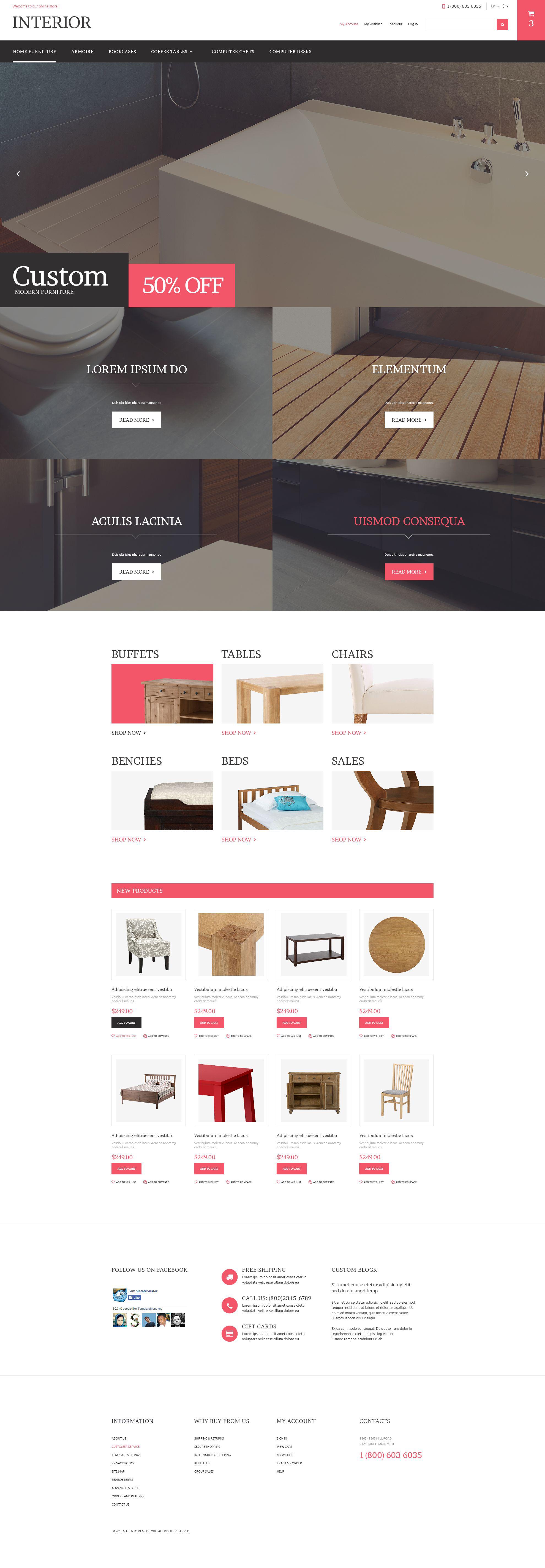 """""""Home Furniture Store"""" thème Magento adaptatif #53395"""