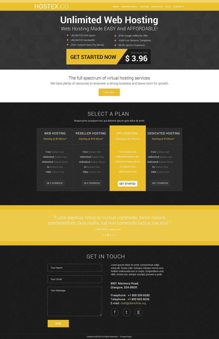 Hosting Joomla Template New Screenshots BIG