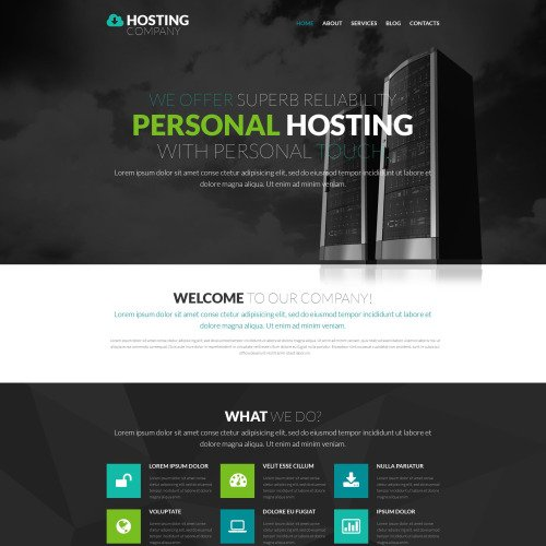 Hosting Company - WordPress Template based on Bootstrap