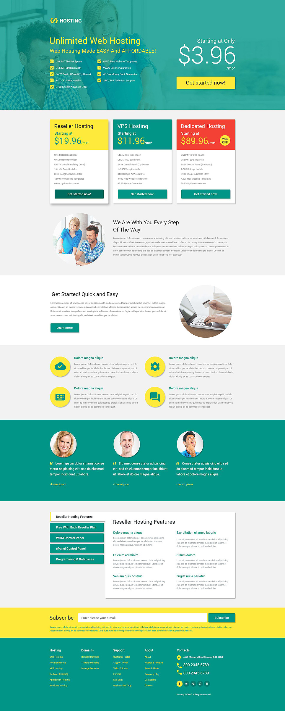 Hosting Responsive Landing Page Template New Screenshots BIG