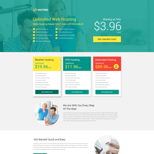 Hosting - Responsive Landing Page Template