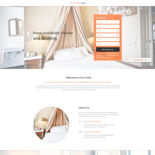 Hotels - Responsive Landing Page Template