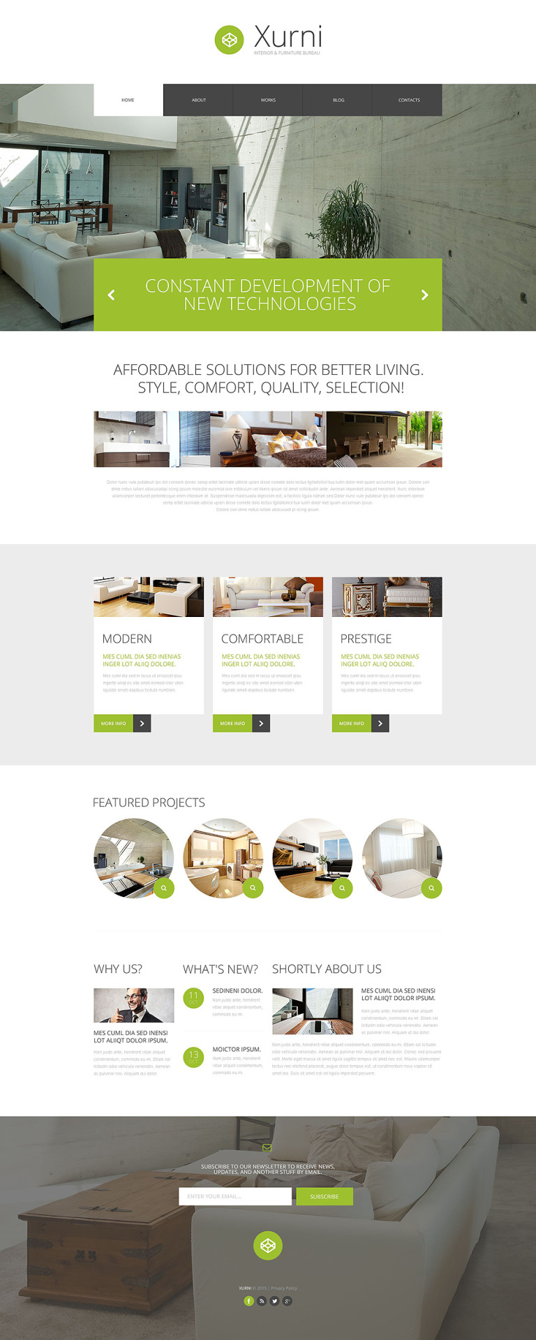 Interior Furniture Store WordPress Theme New Screenshots BIG