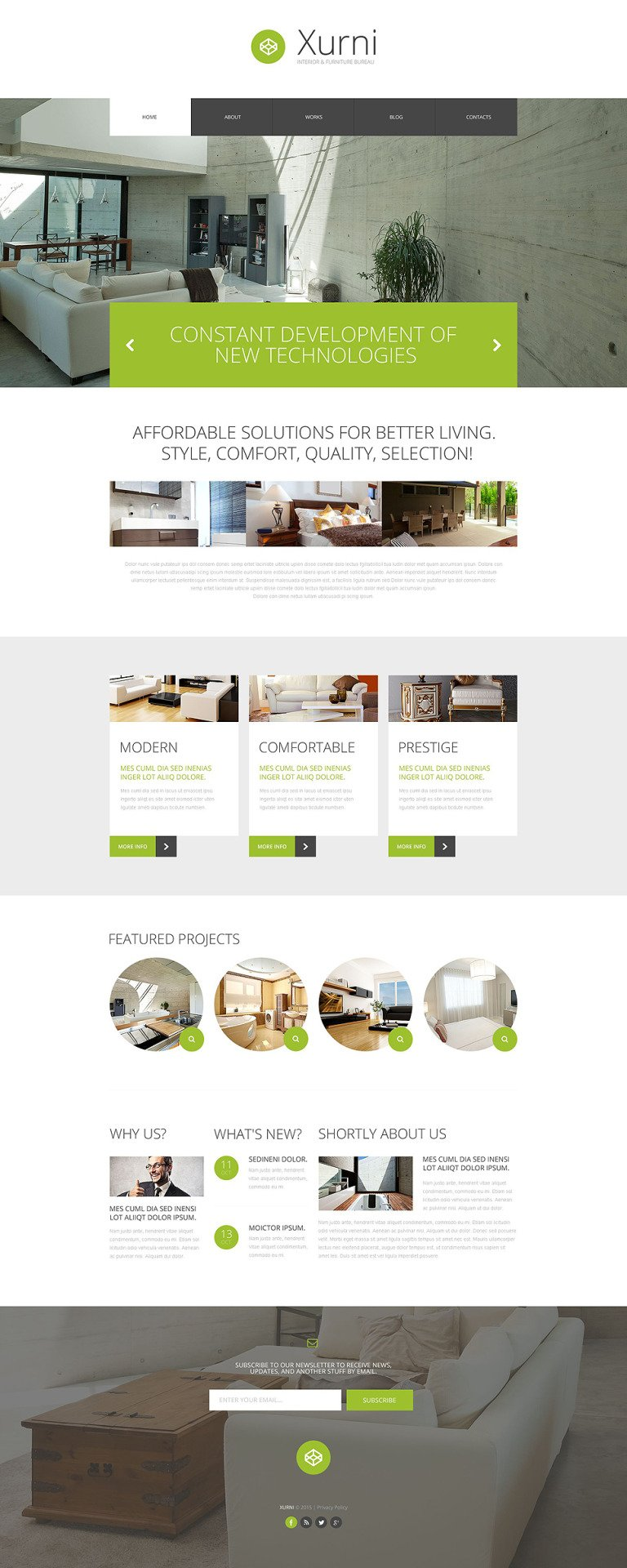 Interior Furniture Store WordPress Theme New Screenshots BIG