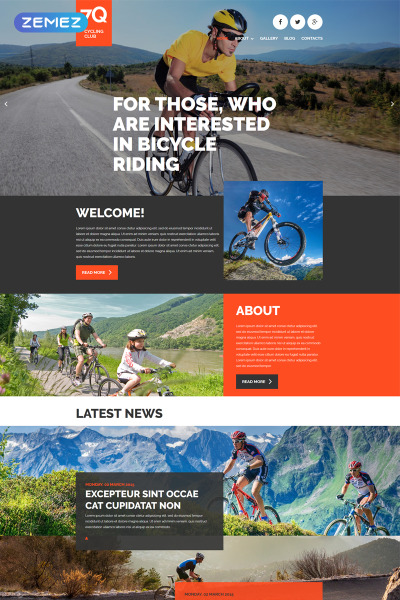 Адаптивный Joomla шаблон №53315 на тему велоспорт