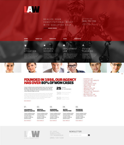 Accounting Website Responsive WordPress шаблон