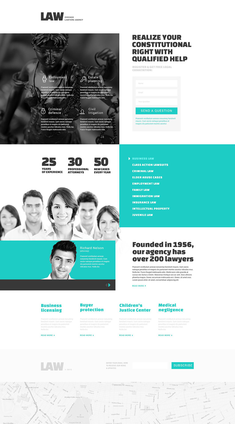 Law Firm Responsive Landing Page Template New Screenshots BIG