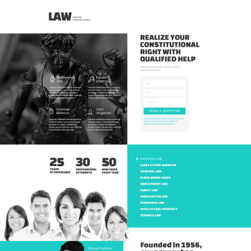 Law  - Responsive Landing Page Template