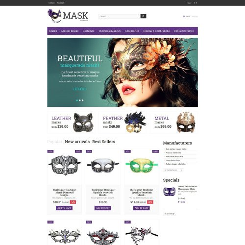 Mask  - Responsive PrestaShop Template