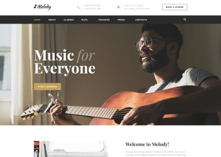Music School Multipage HTML5