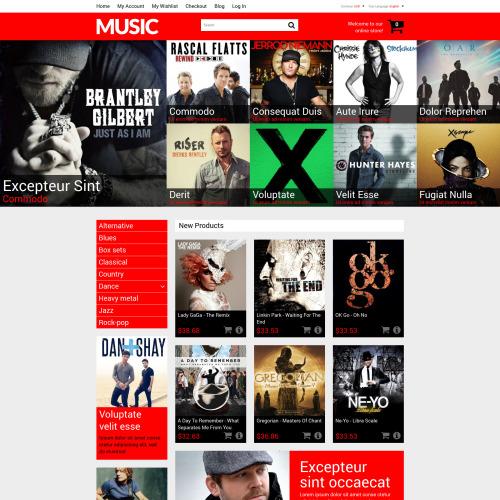 Music - Magento Music Store Template