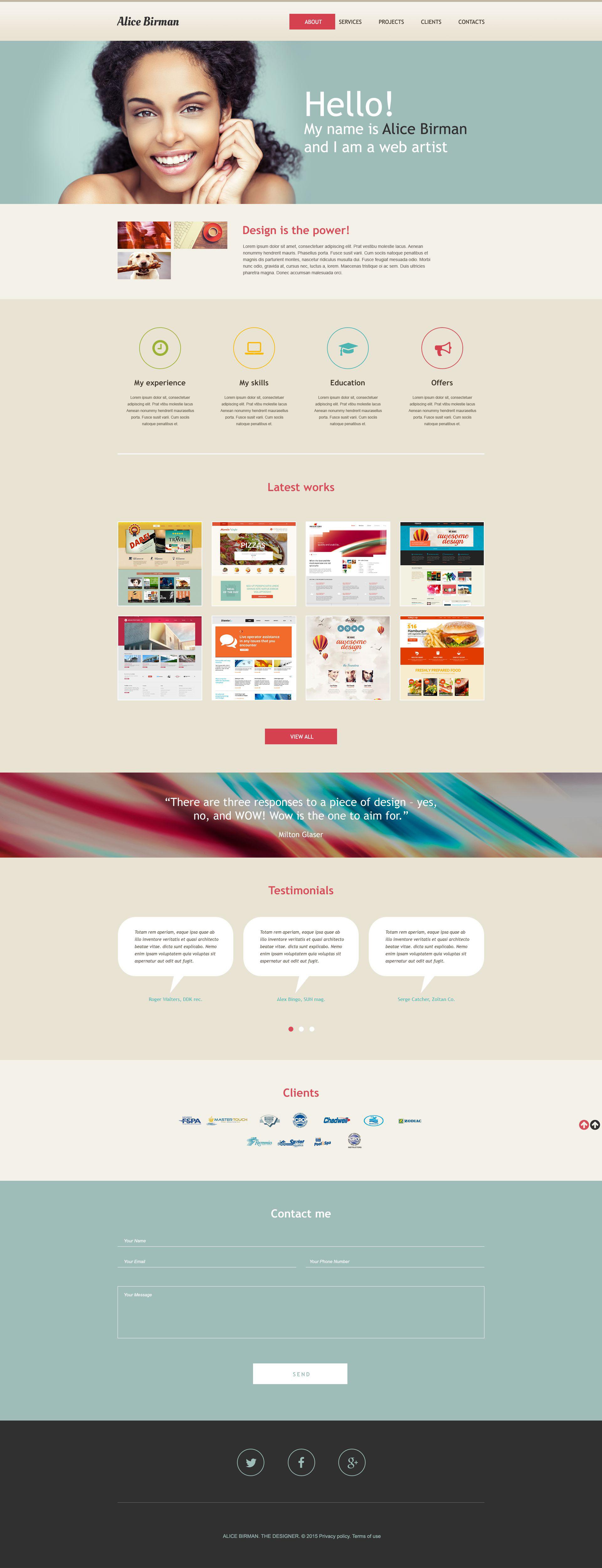 Modèle Muse pour site de développement Web #53397
