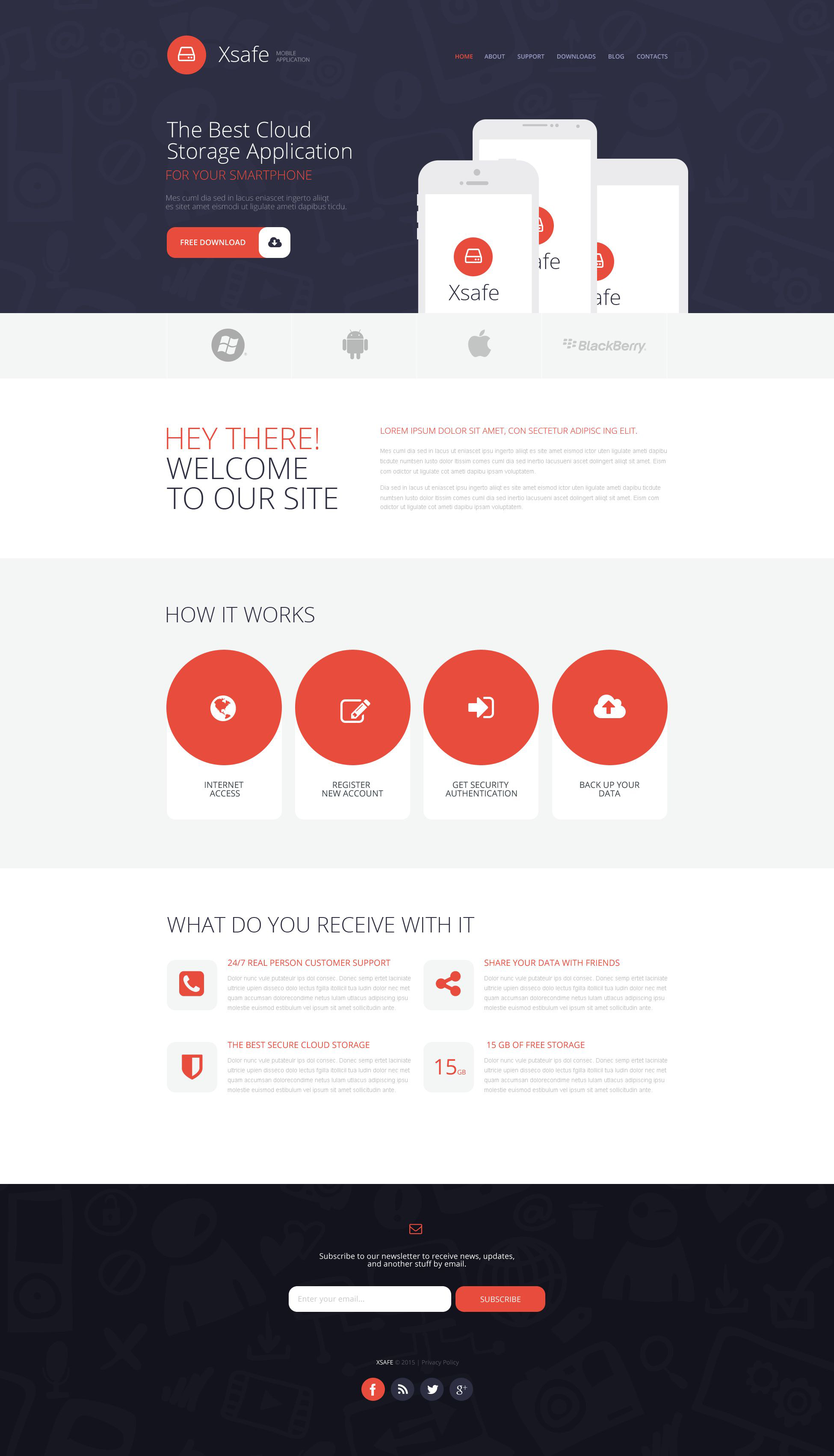 "Modello WordPress Responsive #53375 ""Mobile App Store"" - screenshot"