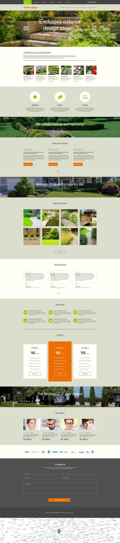 Muse Template für Außendesign  #53338