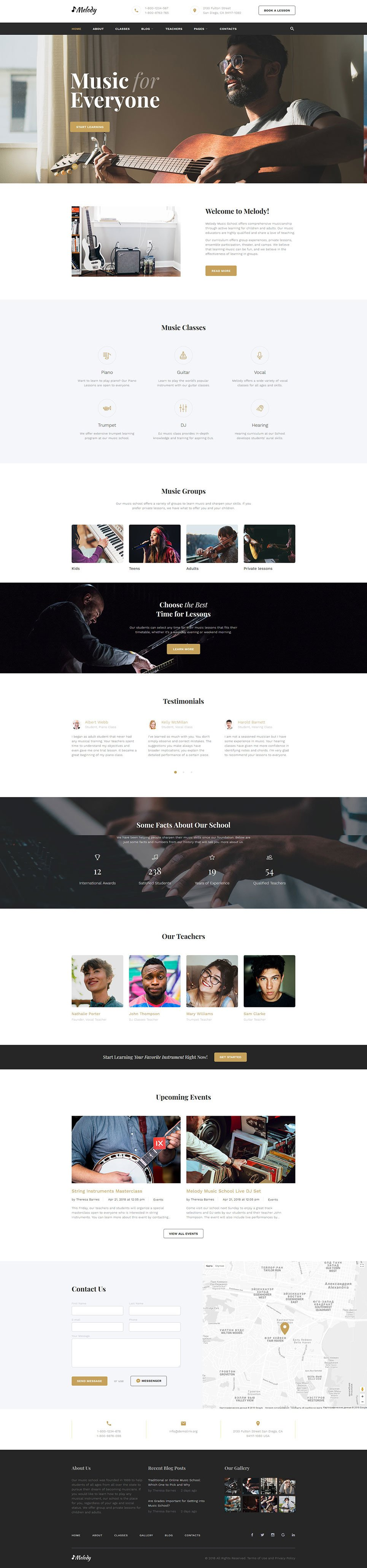 Music Education Website Template New Screenshots BIG