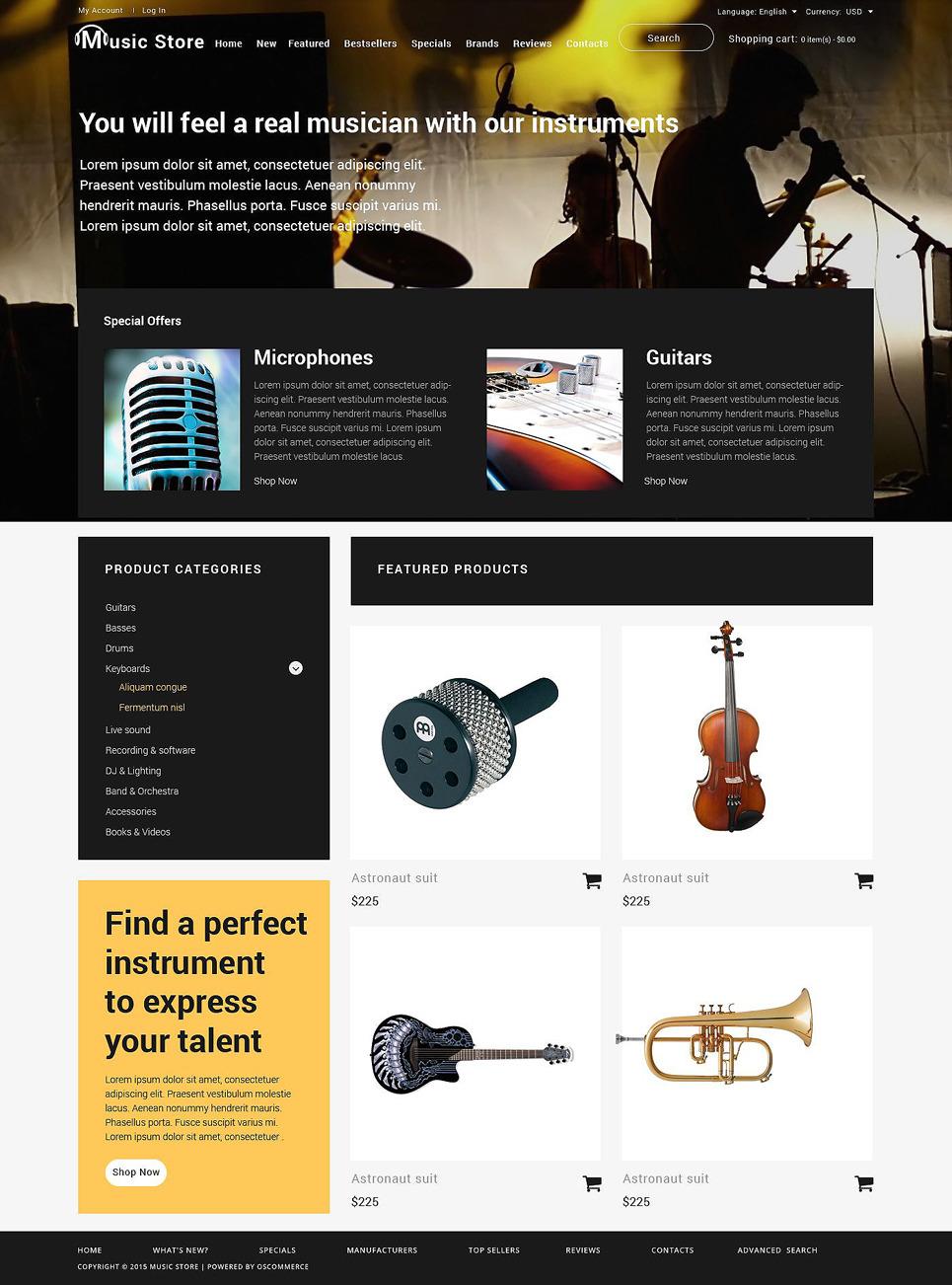 Music Shop OsCommerce Template New Screenshots BIG