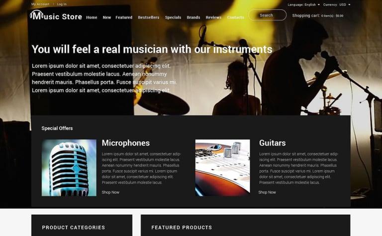 Music Shop OsCommerce Template
