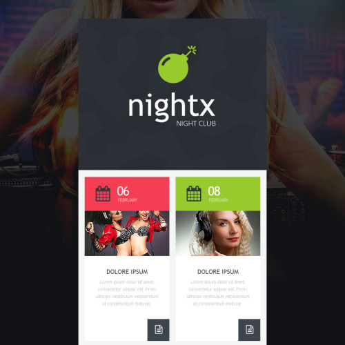 Nightx - Responsive Newsletter Template