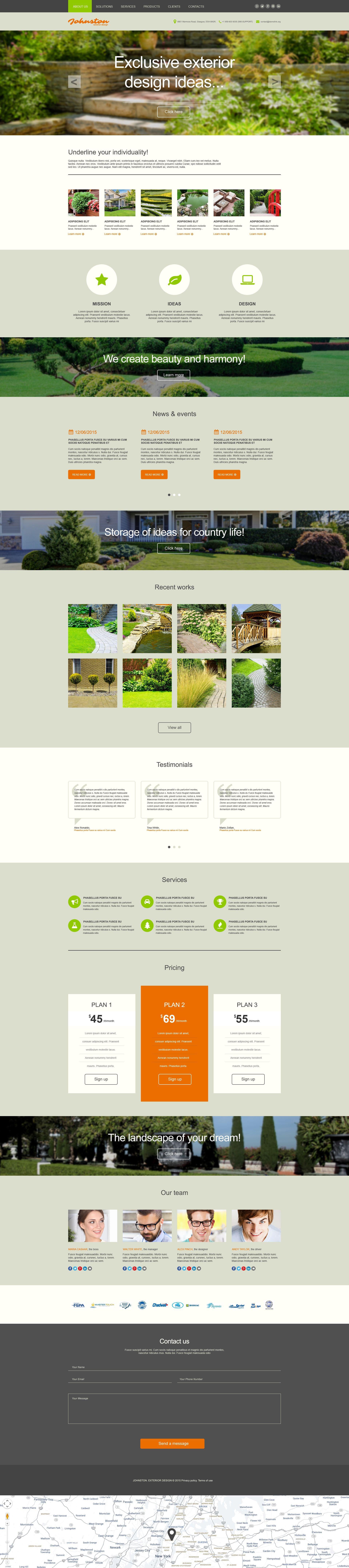 Plantilla Muse #53338 para Sitio de Diseño de exteriores