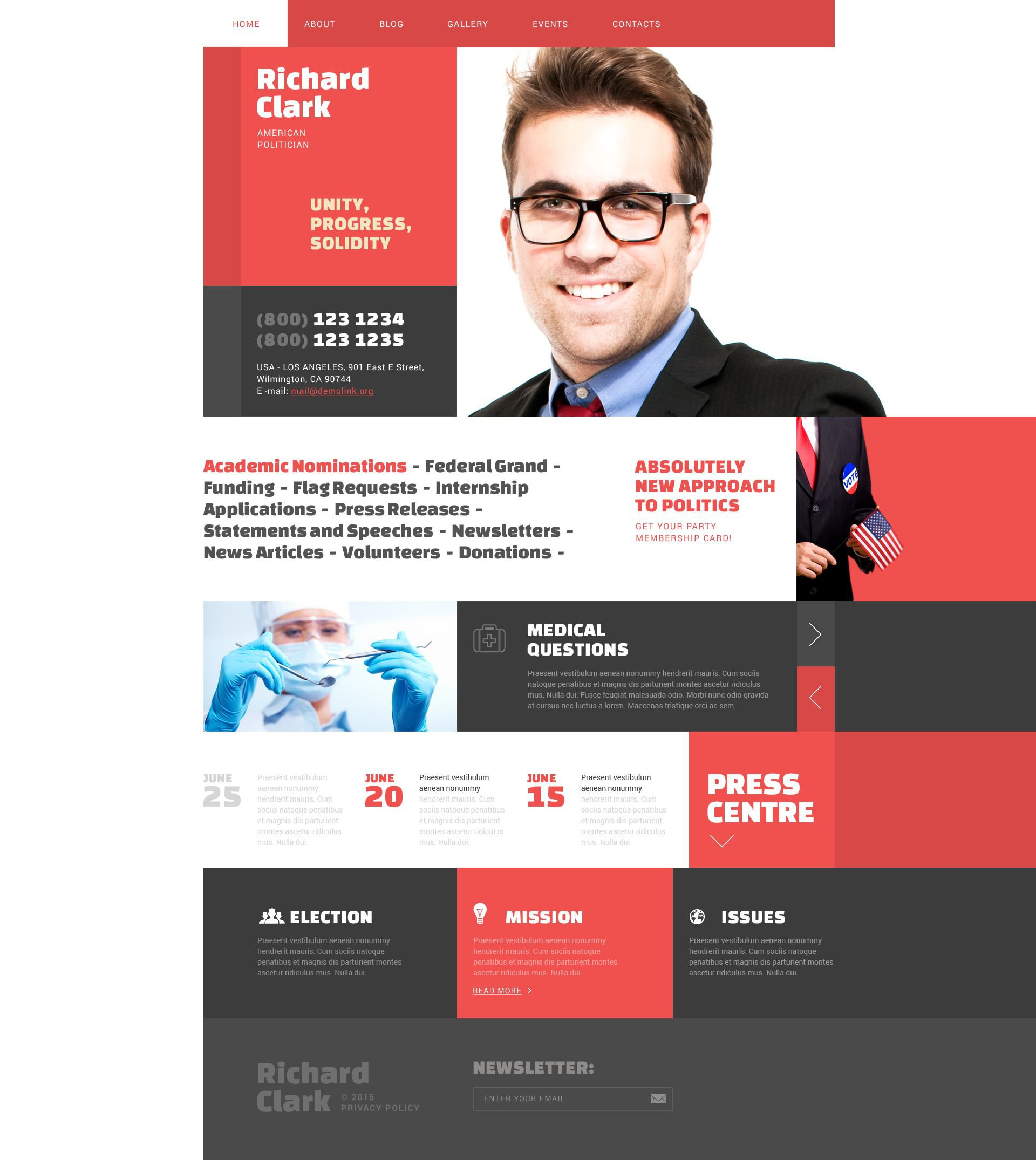 Politics WordPress Theme