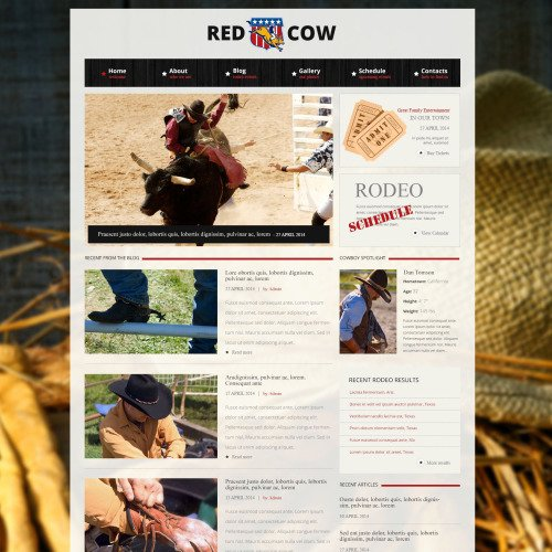 Red Cow - Responsive Drupal Template