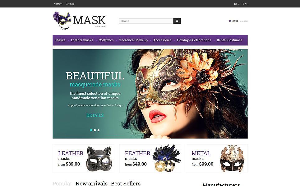 "PrestaShop Theme namens ""Faschingsmasken "" New Screenshots BIG"