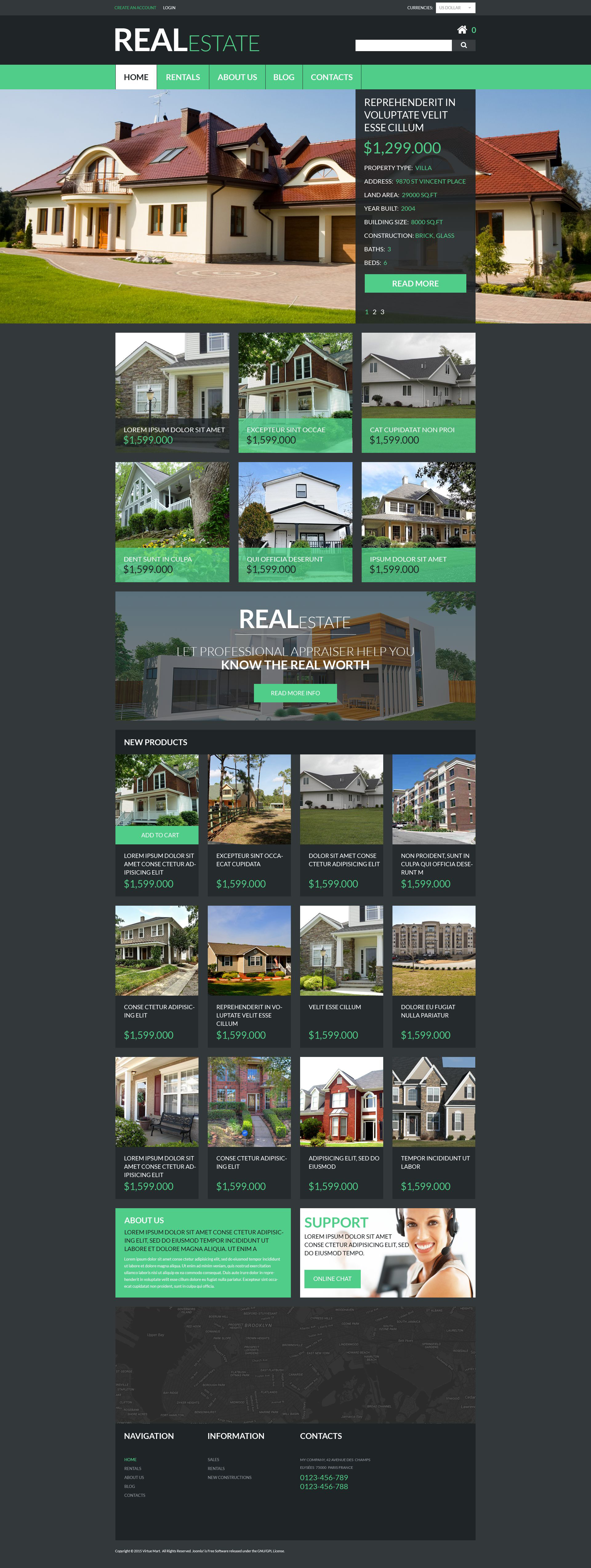 Real Estate Services Template VirtueMart №53353
