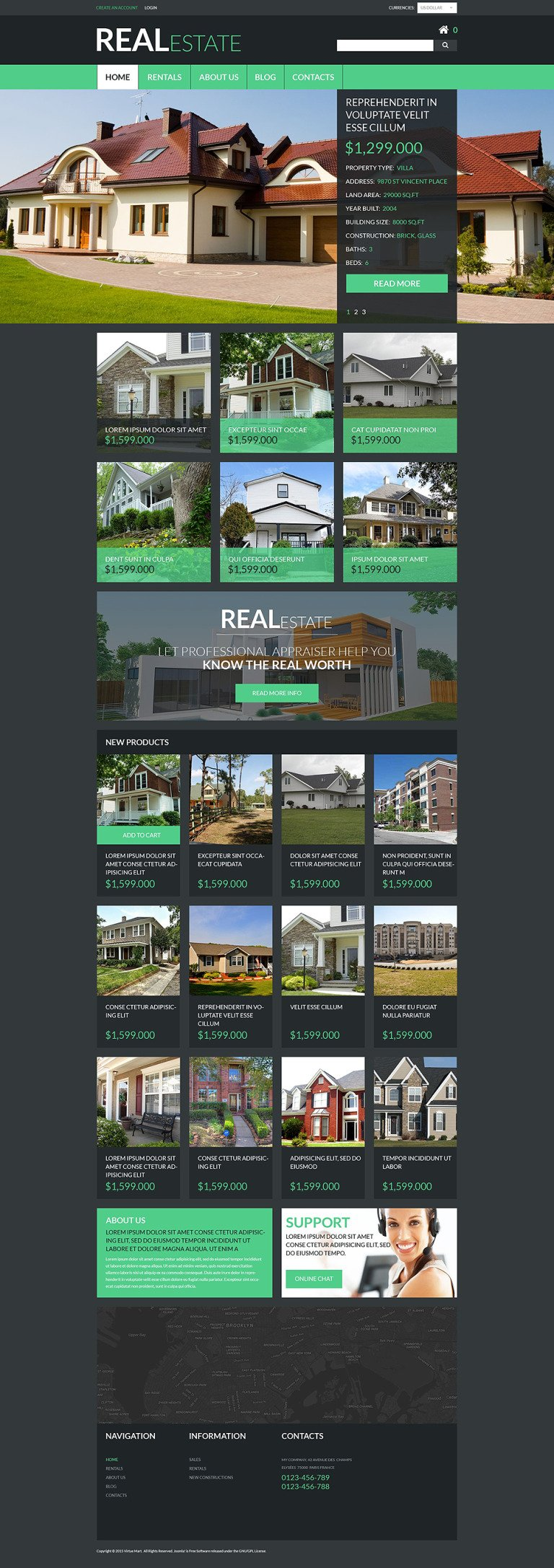 Real Estate Services VirtueMart Template New Screenshots BIG