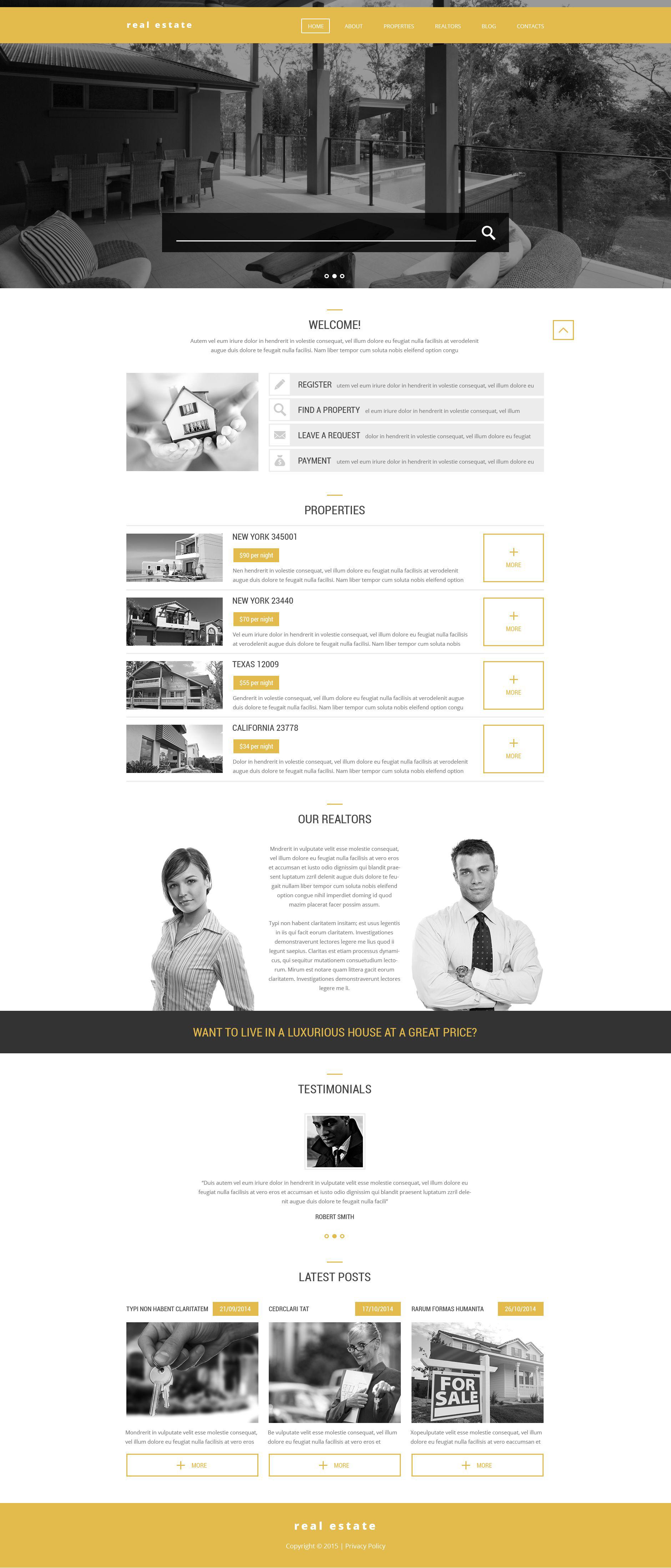 Realtors' Help WordPress Theme - screenshot